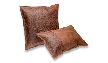 Handmade leather cushions